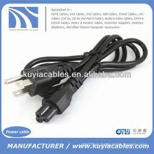 US 3-Prong Plug Cable de alimentación para portátil Cable
