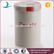 Modern decal ceramic storage jar for pet
