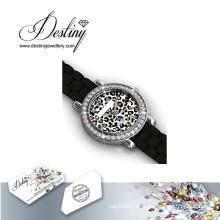 Destino joyería cristal de Swarovski reloj colorido