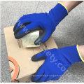 Banboo fibre et Spandex tricotés travail gants avec Micro-mousse Nitrile enduction (N1568)