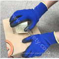 Banboo волокна и спандекса трикотажные рабочие перчатки с микро вспененного нитрила покрытием (N1568)