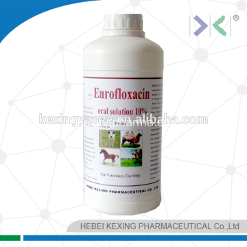 Solution buvable d'enrofloxacine animale