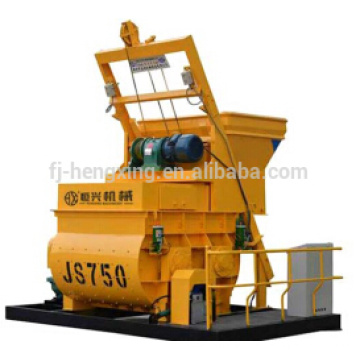 JS750 compulsary twin shaft concrete mixer, concrete mixing machine