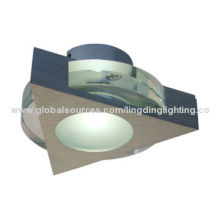 LED Downlight, 1*3W, Central Spot with Side Light, Aluminum Body, Crystal, Satin Aluminum