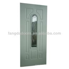 Porte en acier à 8 panneaux Fangda avec insert en verre