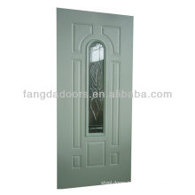 Fangda 8 panel steel door with glass insert