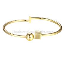 Brazalete plateado oro de la joyería de la pulsera del brazalete de la mujer 2017 del oro para las mujeres Brazaletes grandes plateados oro de la pulsera del oro 18K