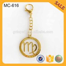 MC616 moda grabado cadena de cadena de metal para los accesorios de bolsos