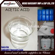 good price glacial acetic acid food grade with transparent liquid