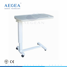 AG-OBT002 CE ISO adjustable medical ABS dinning board over bed table
