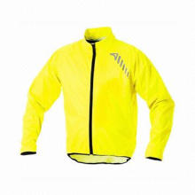 Men's Waterproof Bright Jacket, Made of Polyester, OEM Orders are Welcome