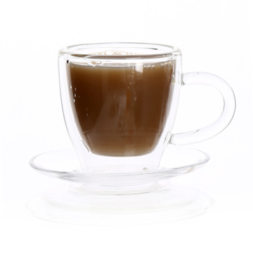 Double Wall Custom Glass Mug For Blue Mountain Coffee