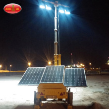 Trailer Mounted Konstruksi Solar Mobile Tower Light