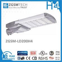 200W lámpara solar al aire libre más nueva LED luz de calle solar