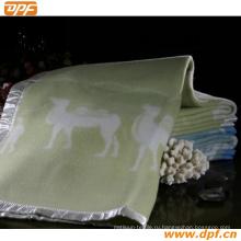 Шанхай DPF текстильной Co. Ltd Высокое качество шерсти одеяло
