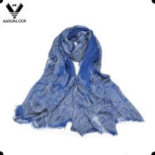Высокое качество женщин Кешью печатных тонких модальных длинный шарф