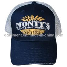 Пользовательские вышивки Хлопок Twill Sport Trucker Mesh Cap (TMT9473-1)