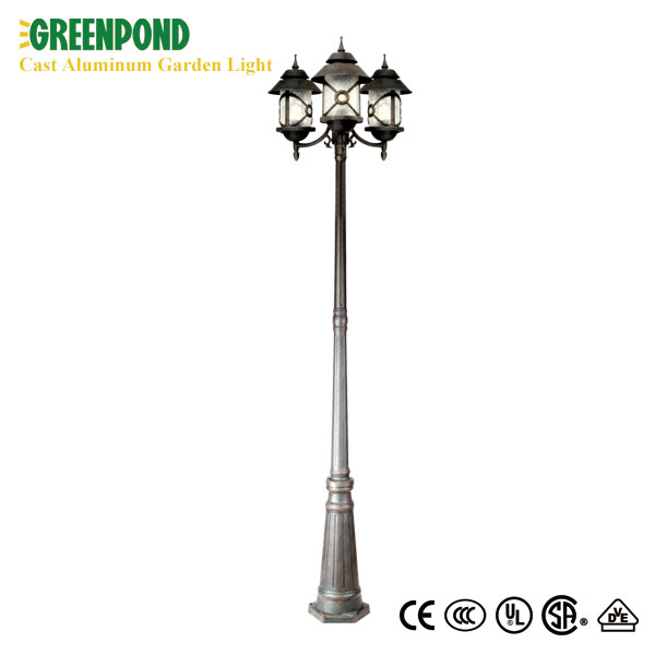 Warm Cast Aluminum Garden Lamp Yellow Color