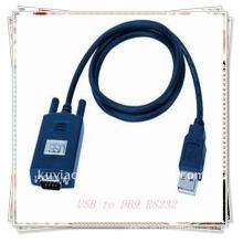 Varón del USB 2.0 de la alta calidad 1.5m negro al DB9 cable masculino de la serie RS232 nuevo
