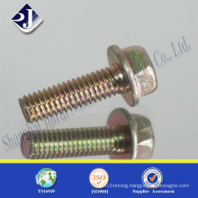 Flange Bolt with Yellow Zinc Palted