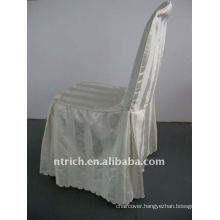 polyester chair cover with stripe,CT502 ivory/beige/cream color,banquet chair cover,250GSM best quality