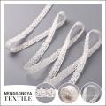 Cordón blanco de encargo del cordón del algodón de la alta calidad de la venta al por mayor caliente