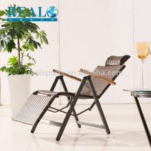 Antiker faltender Strand Armrest-Stuhl-faltender Metallstuhl