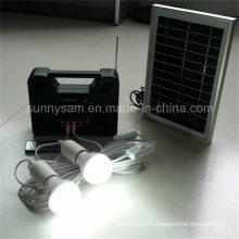 Lampe d'éclairage de système de maison de puissance solaire pour l'usage d'intérieur