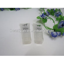 oval transparent cosmetic plastic tube transparent tube