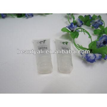 oval transparent cosmetic plastic tube transparent tube