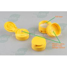 Tampa plástica do flip superior com válvula de silicone transversal (PPC-PSVC-002)