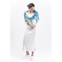 Brcssc-100% Seide Digital bedruckten quadratischen Schal