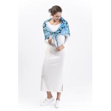 Brcssc-100%Silk Digital Printed Square Shawl