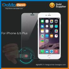 Protecteur d'écran de verre trempé directement intelligent usine pour l'iphone 6
