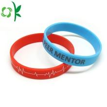 Electrocardiogram Shape Silicone Bangles Printed Straps