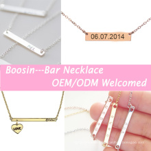 Alloy Gold Personalized Name Bar Letter Initial Necklace