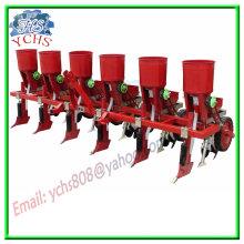 Plantador de milho de trator agrícola com fertilização