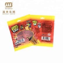 Bolso flexible plástico impreso aduana de la venta al por mayor de la fábrica tres bolsos laterales del lacre de calor para la comida