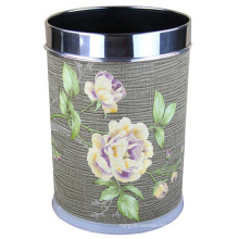 Fashion Design Round Stainless Steel Rim Waste Bin