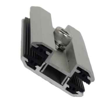 Solar Mounting Aluminum Frameless Solar Panel Clamp