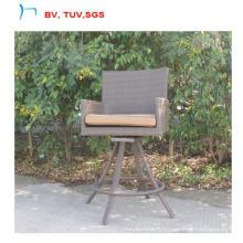 La chaise de barre élevée de rotin de jardin peut pivoter 360 (CF1458)