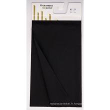 Haute densité Tencel Texture 40s Coton Tissu simple avec couche filmée