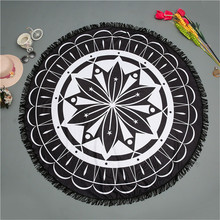 Bulk Colored Black Beach Towel Blanket
