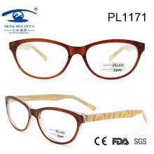 2015 mujeres de moda hombre marco óptico con bisagra de resorte (PL1171)