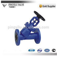 pn16 dn200 flange end y type bellow globe valve