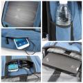 Sac à dos solaire en couleur bleu et brun couleur rechargeable de haute qualité