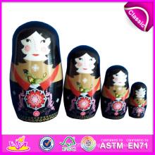 2014 einzigartige und beste Qualität Matryoshka Puppen für Kinder, gute Design Matryoshka Puppen für Kinder, benutzerdefinierte Matryoshka Puppenfabrik W06D034