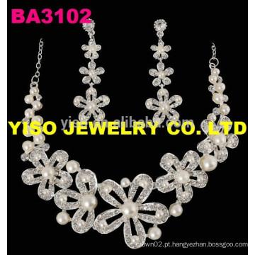 Conjunto de jóias de casamento para meninas
