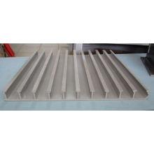 Perfiles estructurales de fibra de vidrio, plataforma de FRP, tablas de GRP, cubierta de fibra de vidrio.
