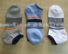stripe 100% cotton socks for sport full terry sports socks for men